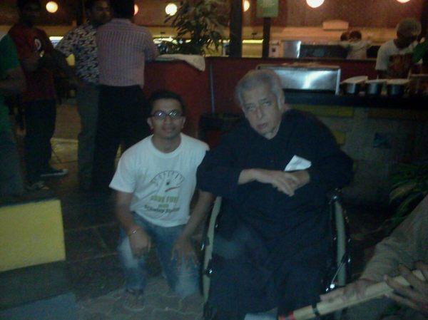 With Shashi Kapoorji at Prithvi Theatre